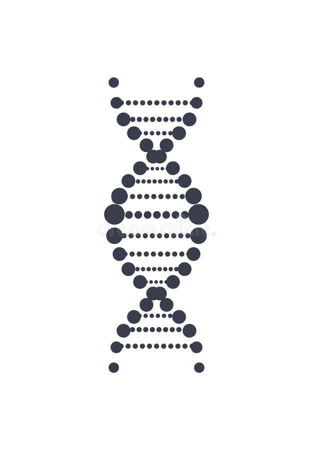 Kedja Logo Design Icon för Deoxyribonucleic syra för DNA vektor illustrationer