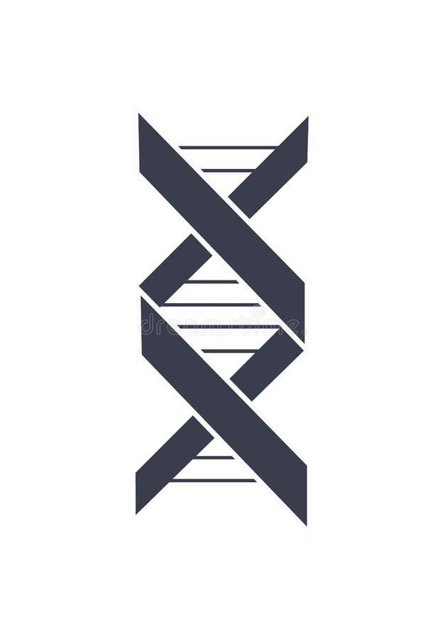 Kedja Logo Design Icon för Deoxyribonucleic syra för DNA royaltyfri illustrationer