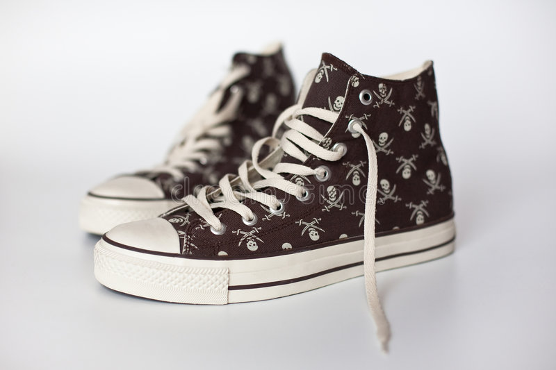 Keds do pirata de Brown foto de stock royalty free