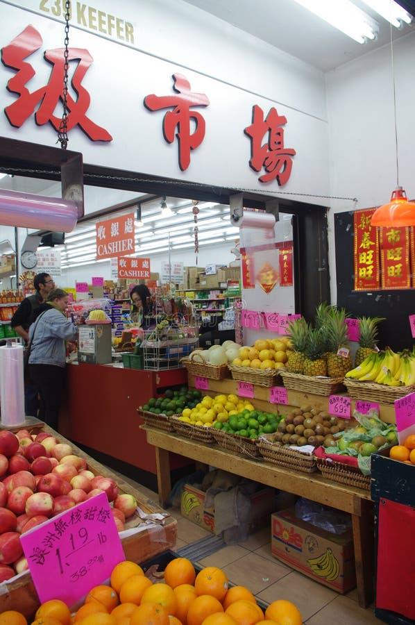 中国超级市场 库存照片