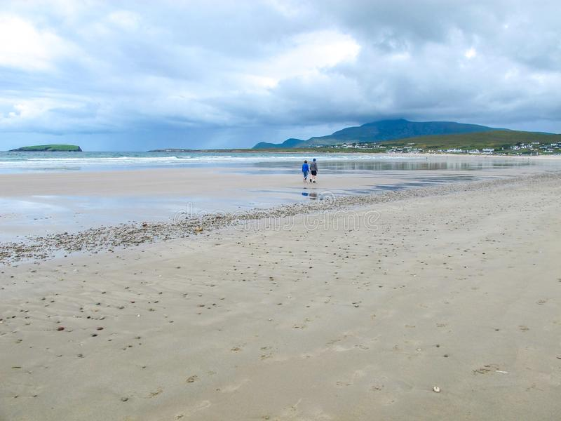 Keel Beach, Achill, Mayo, Irlande photo stock