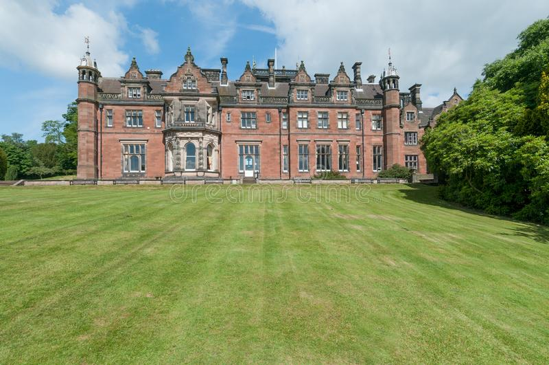 Keele Hall at Keele University stock photography
