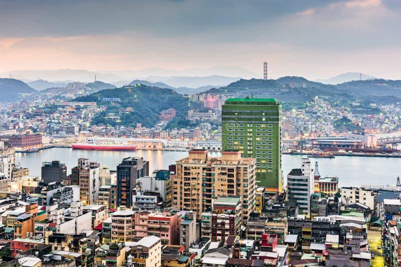 Keelung Taiwan horisont arkivbild