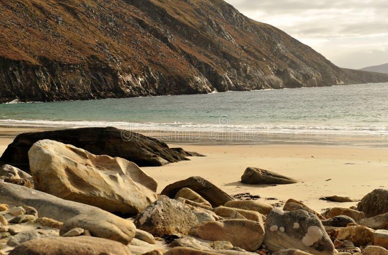 Keem beach at Achill Island stock image
