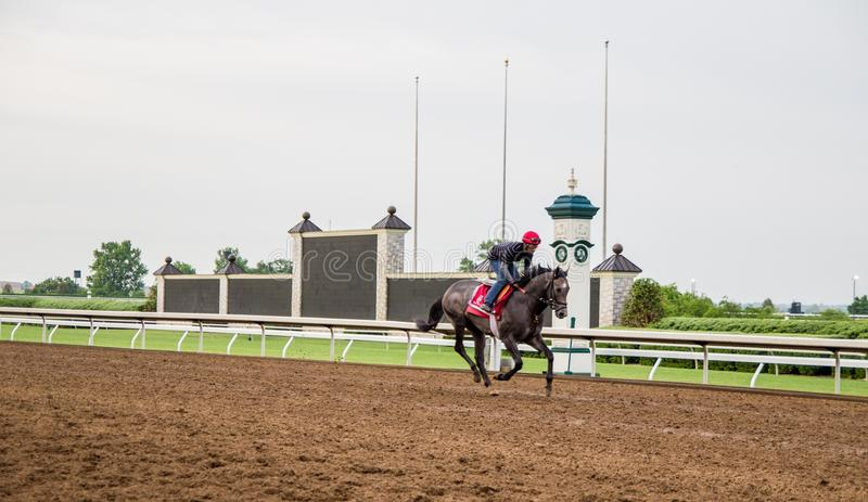 Keeneland Race Track. Lexington, Kentucky. USA. June 1, 2015. The world renowned Keeneland racetrack will be hosting the 2015 Breeders Cup Race. Keeneland is royalty free stock image