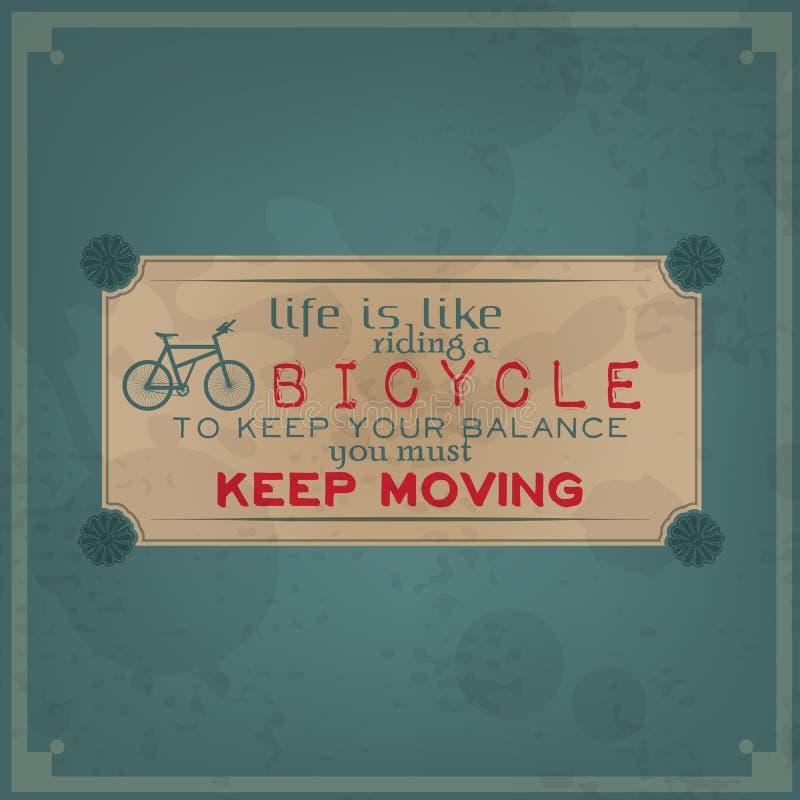 Keep двигая дальше ваш велосипед бесплатная иллюстрация