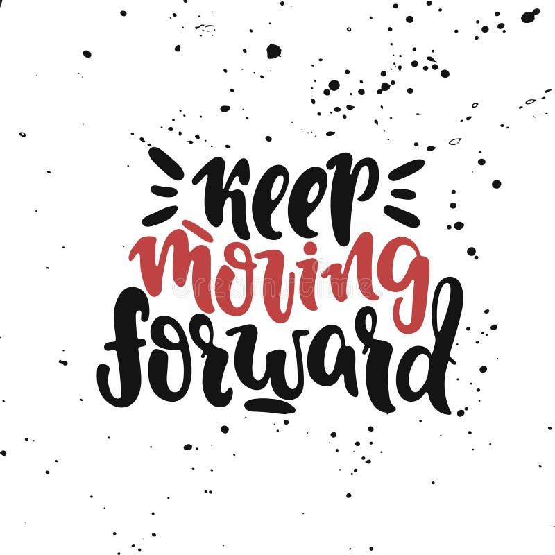 Keep двигая вперед иллюстрация штока