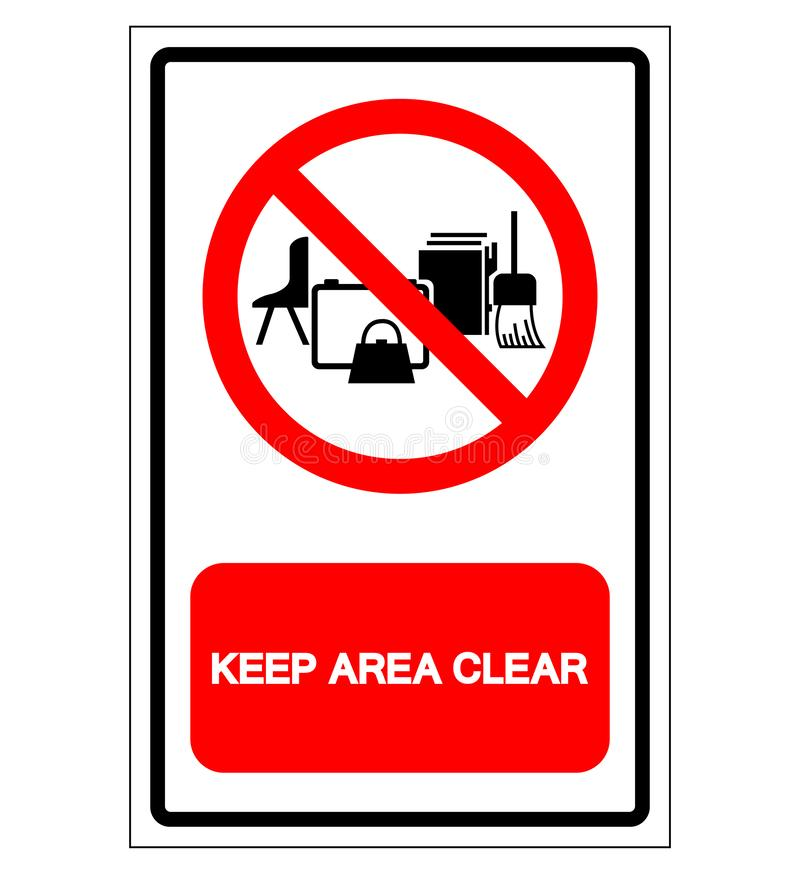 Keep Area Clear Symbol Sign, Vector Illustration, Isolate On White Background Label .EPS10 stock illustration