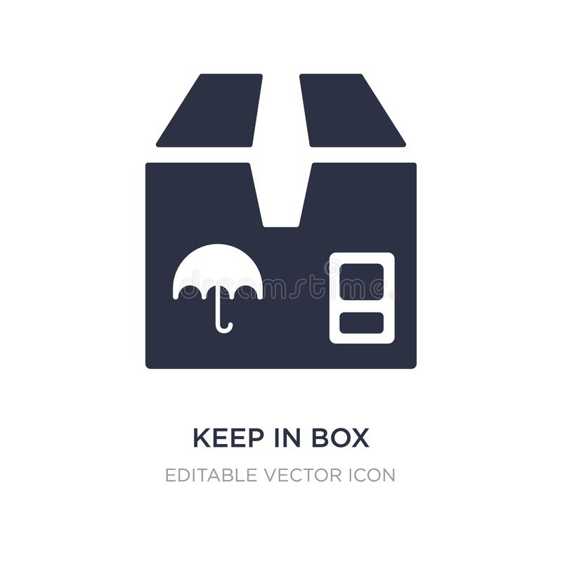 keep in box icon on white background. Simple element illustration from General concept stock illustration