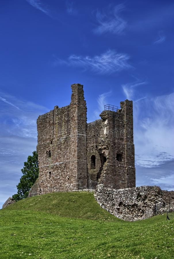 The Keep, Brough Castle stock image