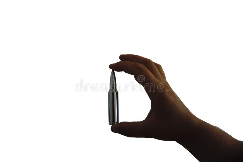 Keep the bullet in his arm insulator stock images