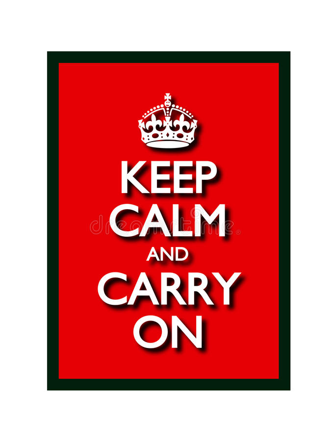 Free Keep Calm And Carry On Stock Photography - 27223522