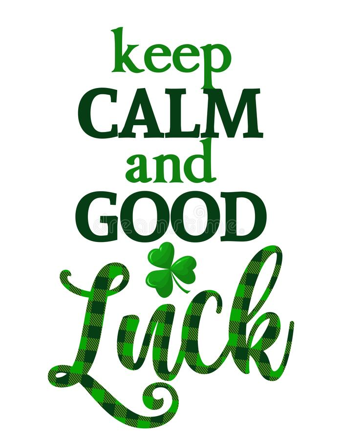 Free Keep Calm And Good Luck - Funny St Patrick`s Day Stock Photos - 212919223