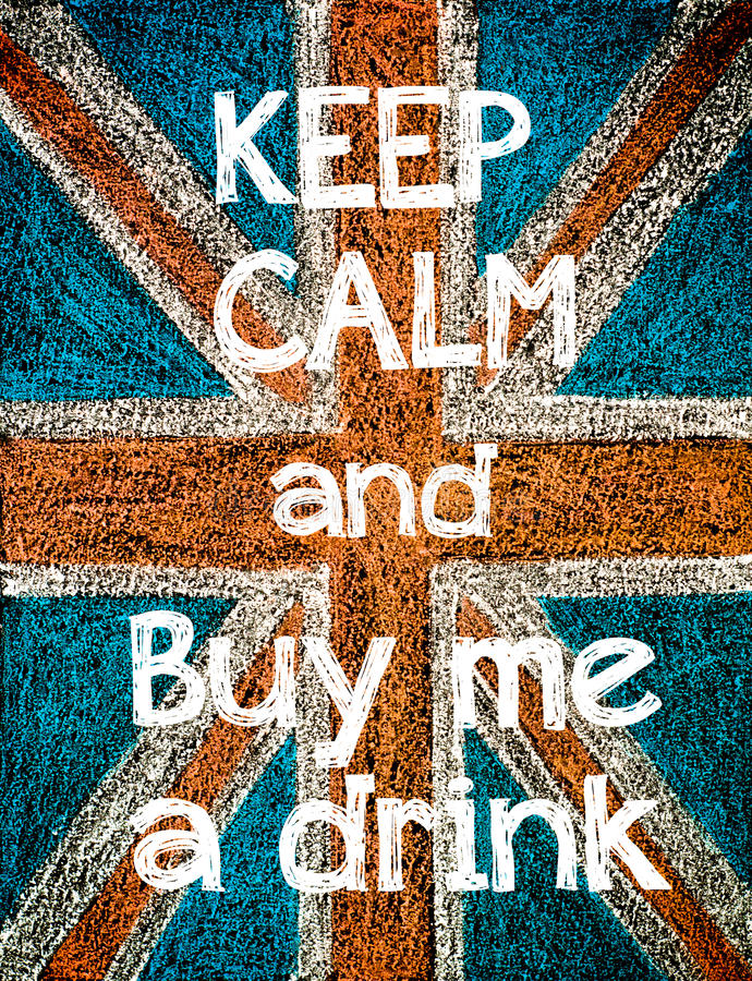 Keep Calm and Buy me a Drink royalty free illustration