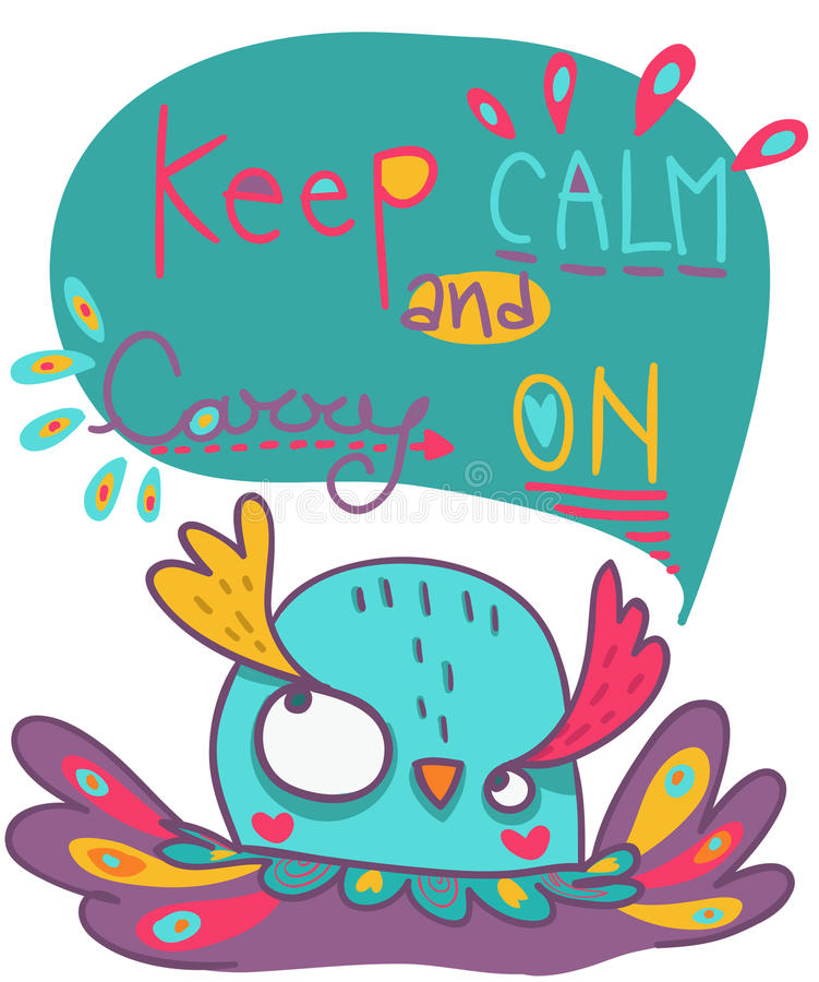 Keep calm and carry on illustration royalty free illustration