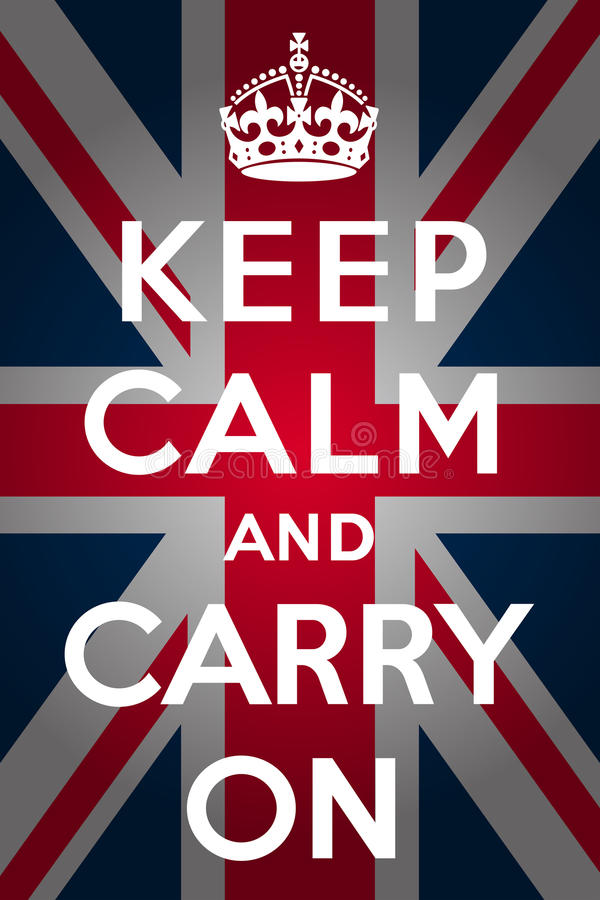 Keep calm and carry on - Union Jack. Keep calm and carry on with union jack background vector illustration