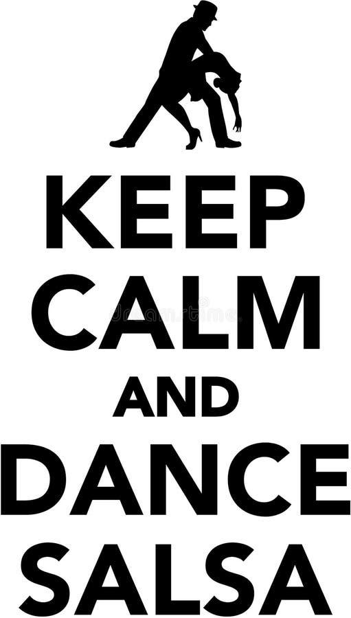Keep calm and dance salsa vector illustration