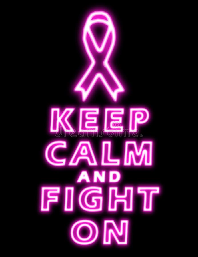 Keep calm and fight against breast cancer royalty free stock images