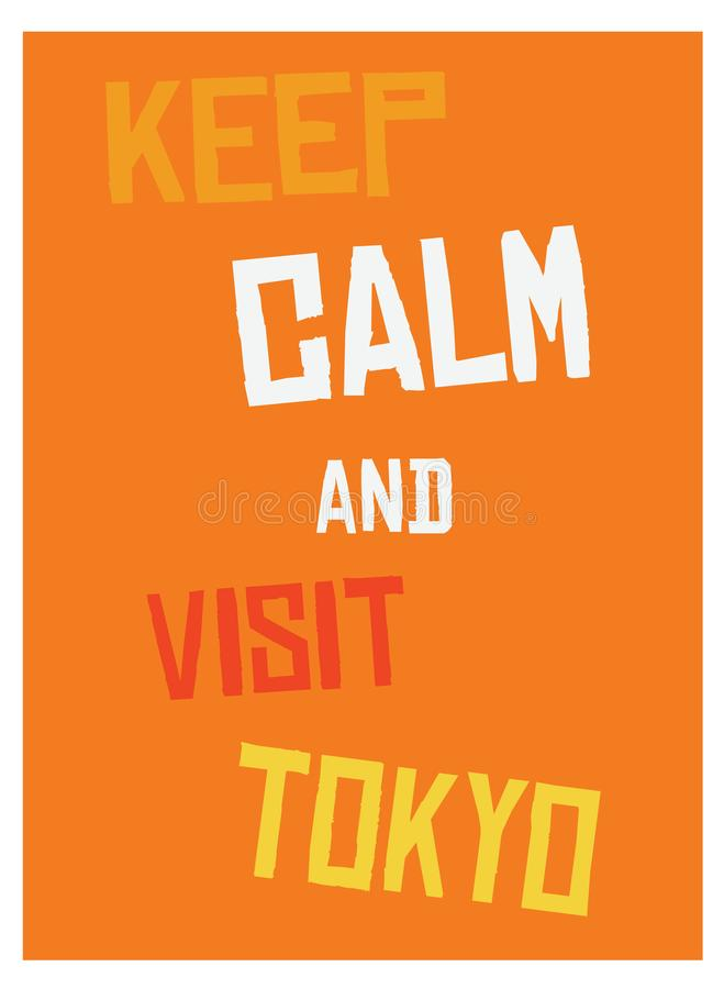 Keep calm and go to Tokyo poster vector illustration