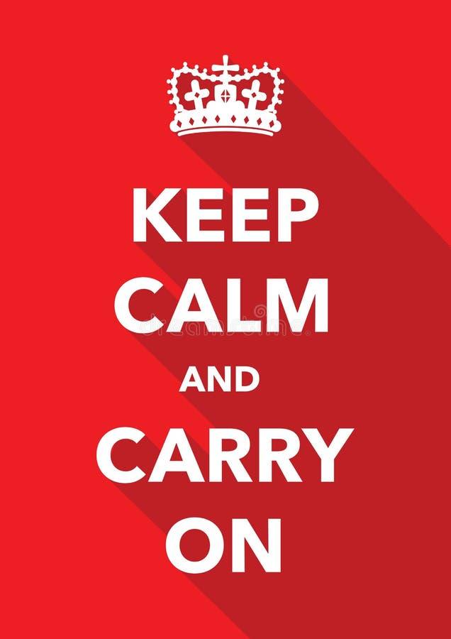 Keep calm imitation poster vector illustration