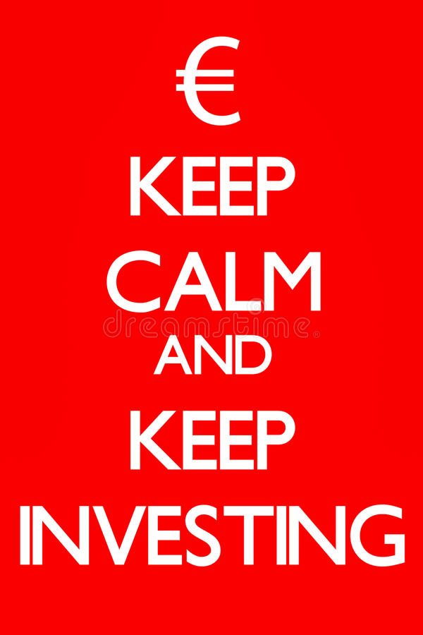 Download Keep Calm And Keep Investing Stock Illustration - Image: 25149930