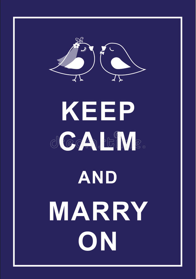 Keep calm and marry on vector illustration