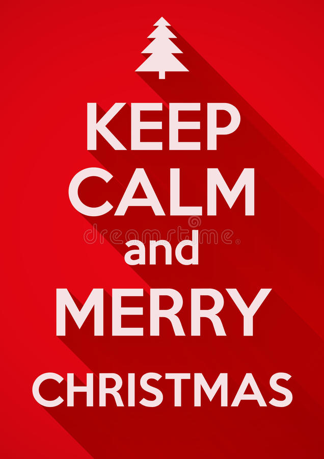Keep Calm And Merry Christmas. Vector Background. Stock Vector ...
