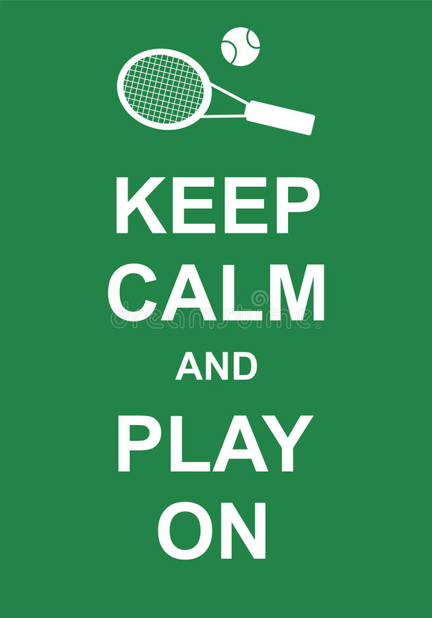 Keep Calm and Play On royalty free illustration