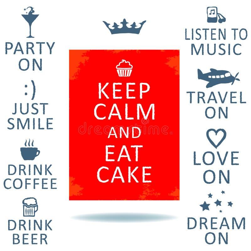 Keep calm stock illustration