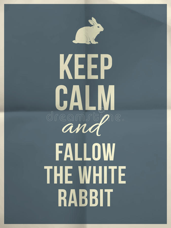 Keep calm rabbit quote royalty free stock image