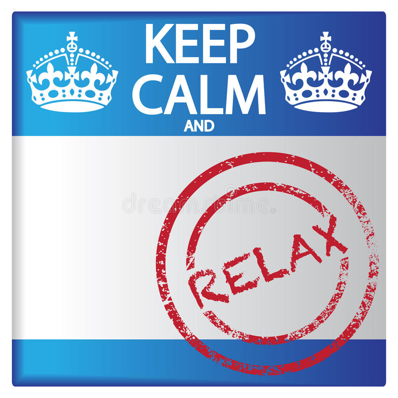 Keep Calm And Relax Badge vector illustration