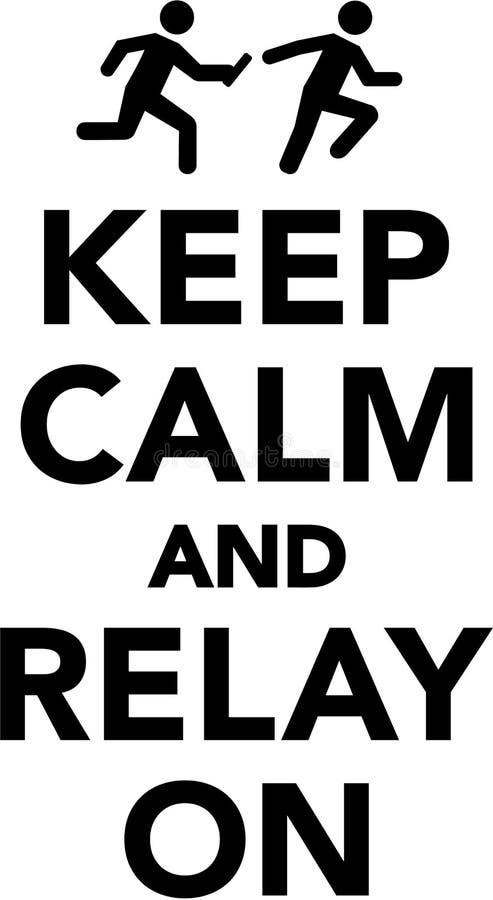 keep calm and relay on stock vector illustration of concept 106167305 rh dreamstime com keep calm vector ai keep calm vector free