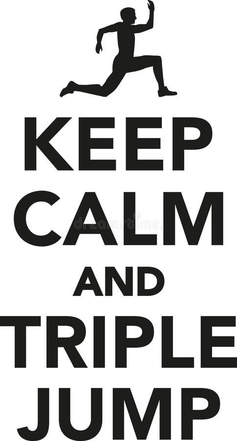 keep calm and triple jump stock vector illustration of pictogram rh dreamstime com keep calm vector free download keep calm vector crown
