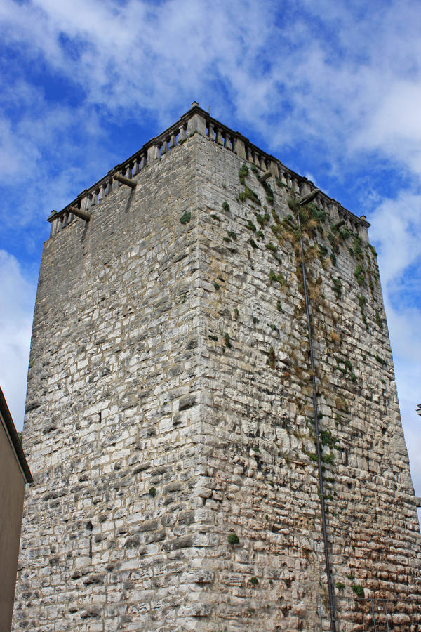 Keep in Chaumont. Medieval keep in Chaumont, France stock photo