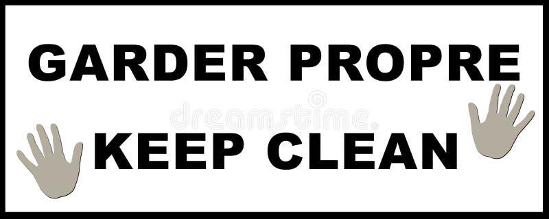 Keep Clean Sticker royalty free illustration