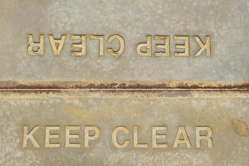 Download Keep Clear Sign stock photo. Image of concept, lines - 24020066