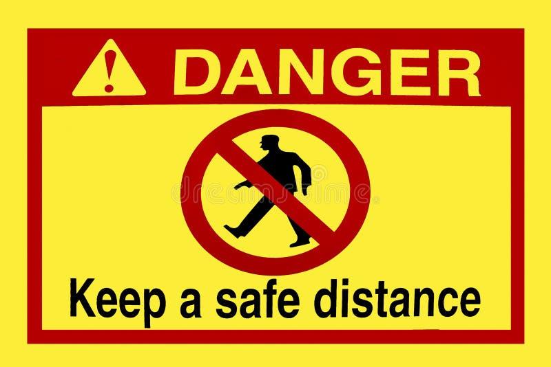Keep Distance Stock Photo