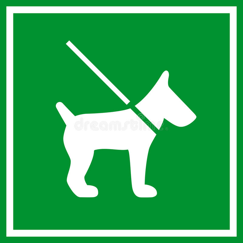 Keep dog on lead sign vector illustration