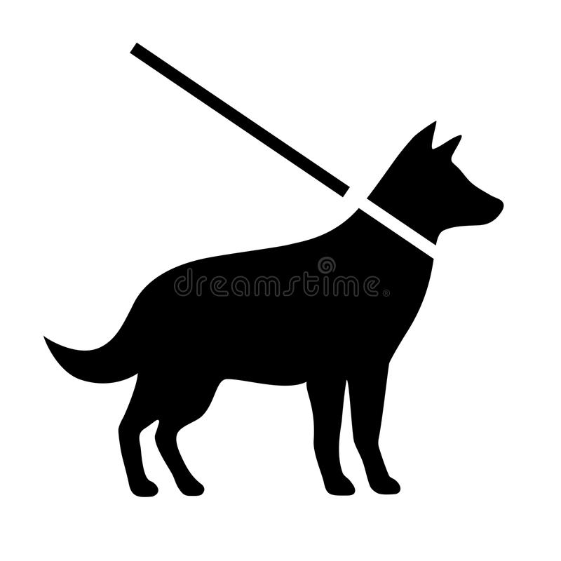 Keep dogs on leash vector sign. Illustration vector illustration