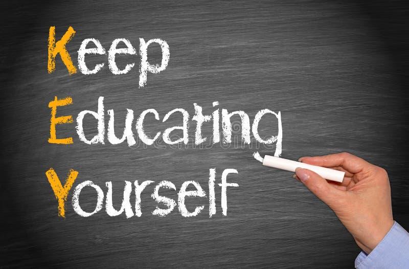 Download Keep Educating Yourself Words On Blackboard Stock Photo - Image: 35277560