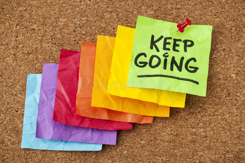 Keep going motivation concept royalty free stock photography