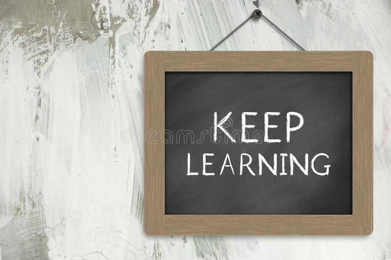 Keep Learning Sign stock image