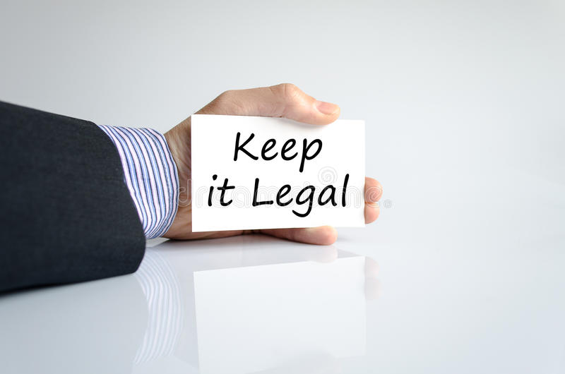 Keep it legal text concept. Isolated over white background stock photos