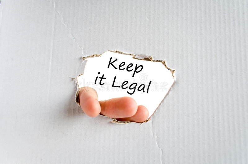 Keep it legal text concept. Isolated over white background royalty free stock images