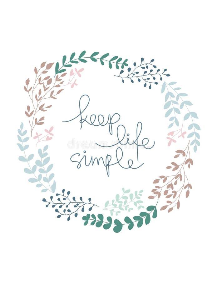 Keep life simple vector illustration