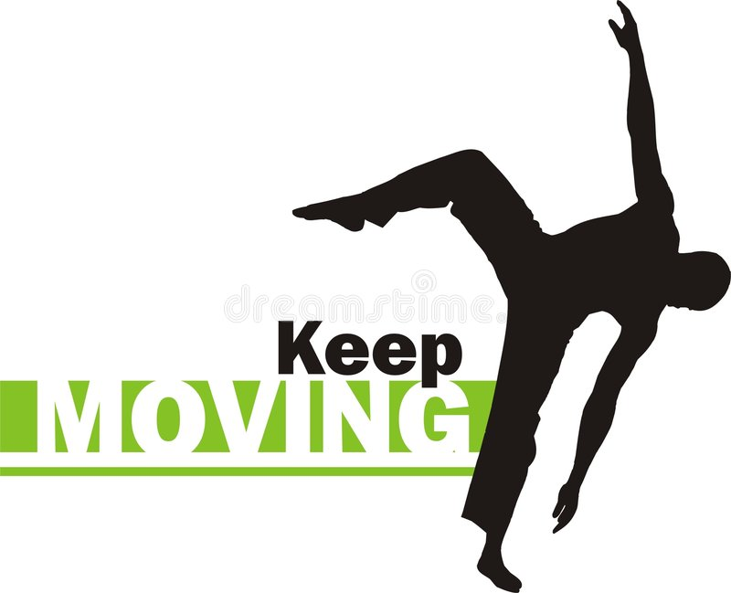 Keep moving 2 vector illustration