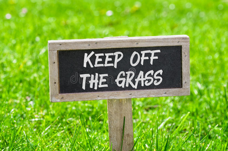 Keep off the grass stock image