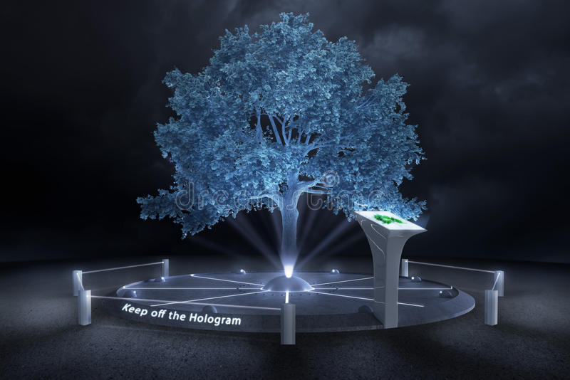 Download Keep off the Hologram stock illustration. Image of environment - 31381564