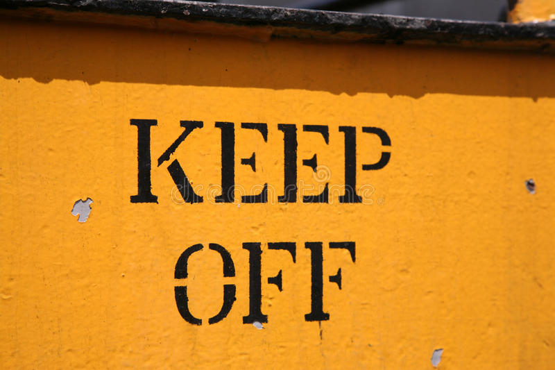 Download Keep Off stock photo. Image of industrial, keep, yellow - 29759970