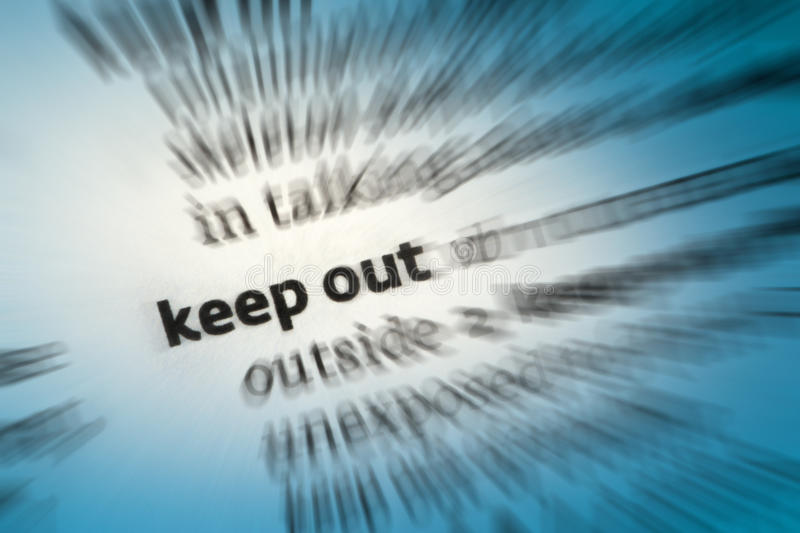 Download Keep Out stock photo. Image of trespass, property, entry - 34435482